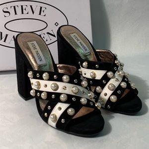 Steve Madden Cove Black heel platform 7.5